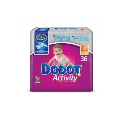 PAÑAL DODOT ACTIV T4 9-15K 36U